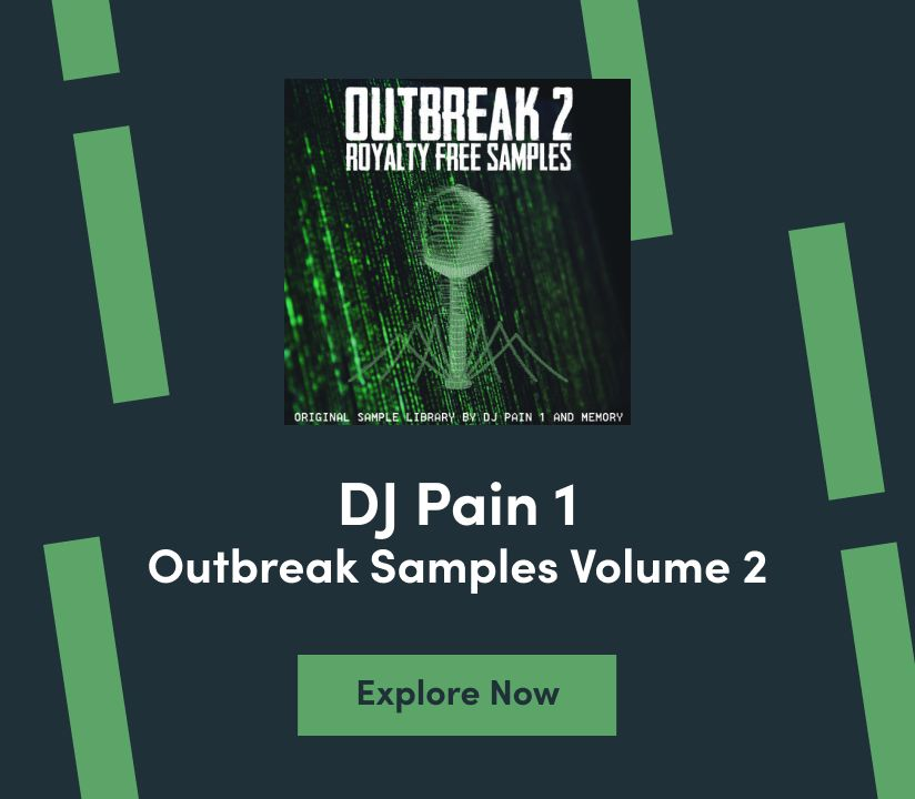 Promotional banner for DJ Pain1 Outbreak Vol. 2