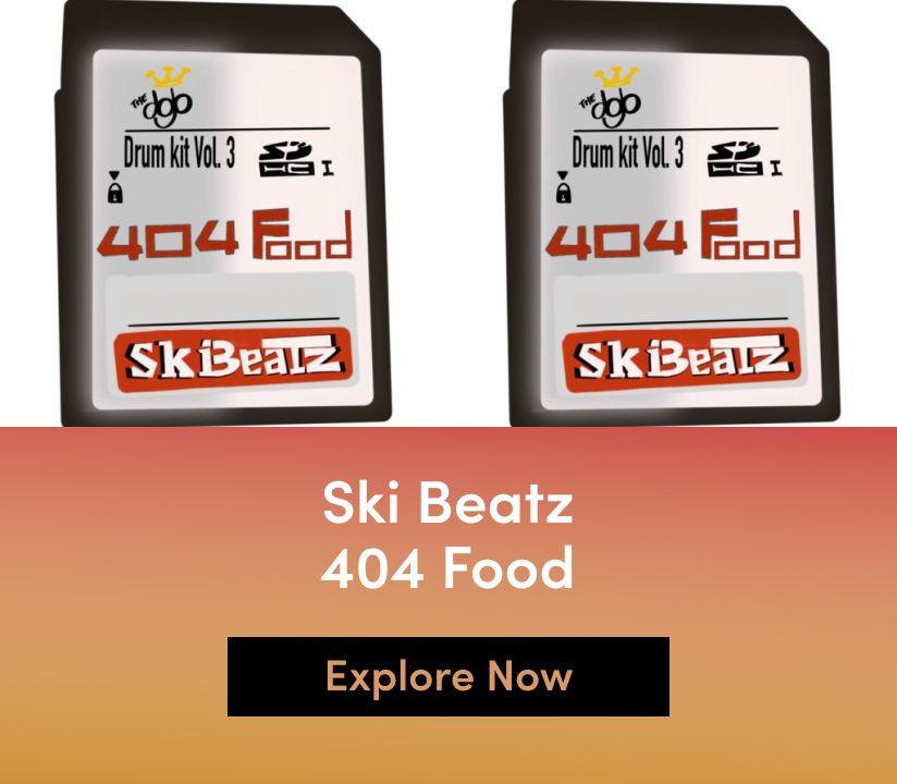 Promotional banner for Ski Beatz - 404 Food
