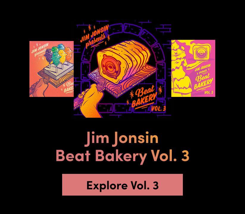 Promotional banner for Jim Jonsin - Beat Bakery Vol. 3