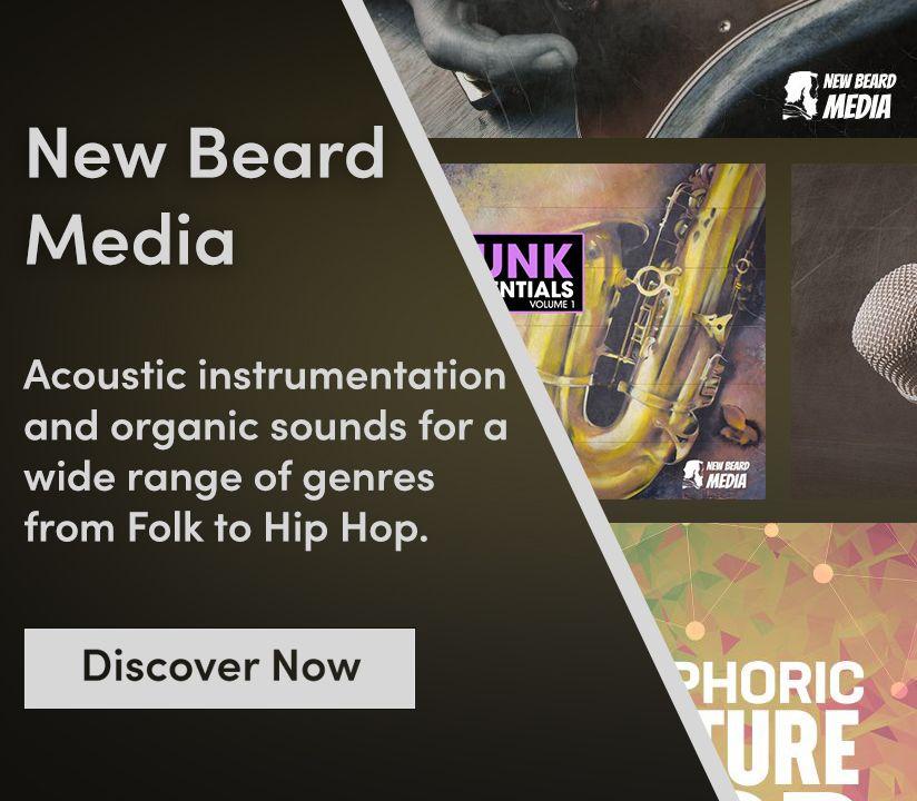 Promotional banner for New Beard Media