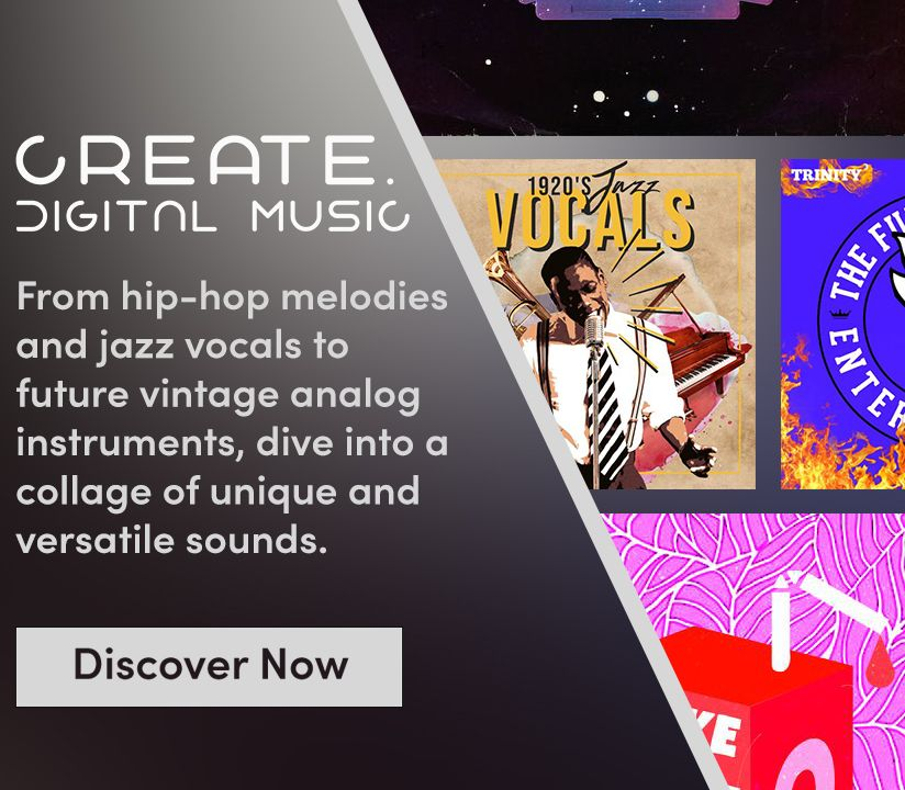 Promotional banner for Create.Digitial Music